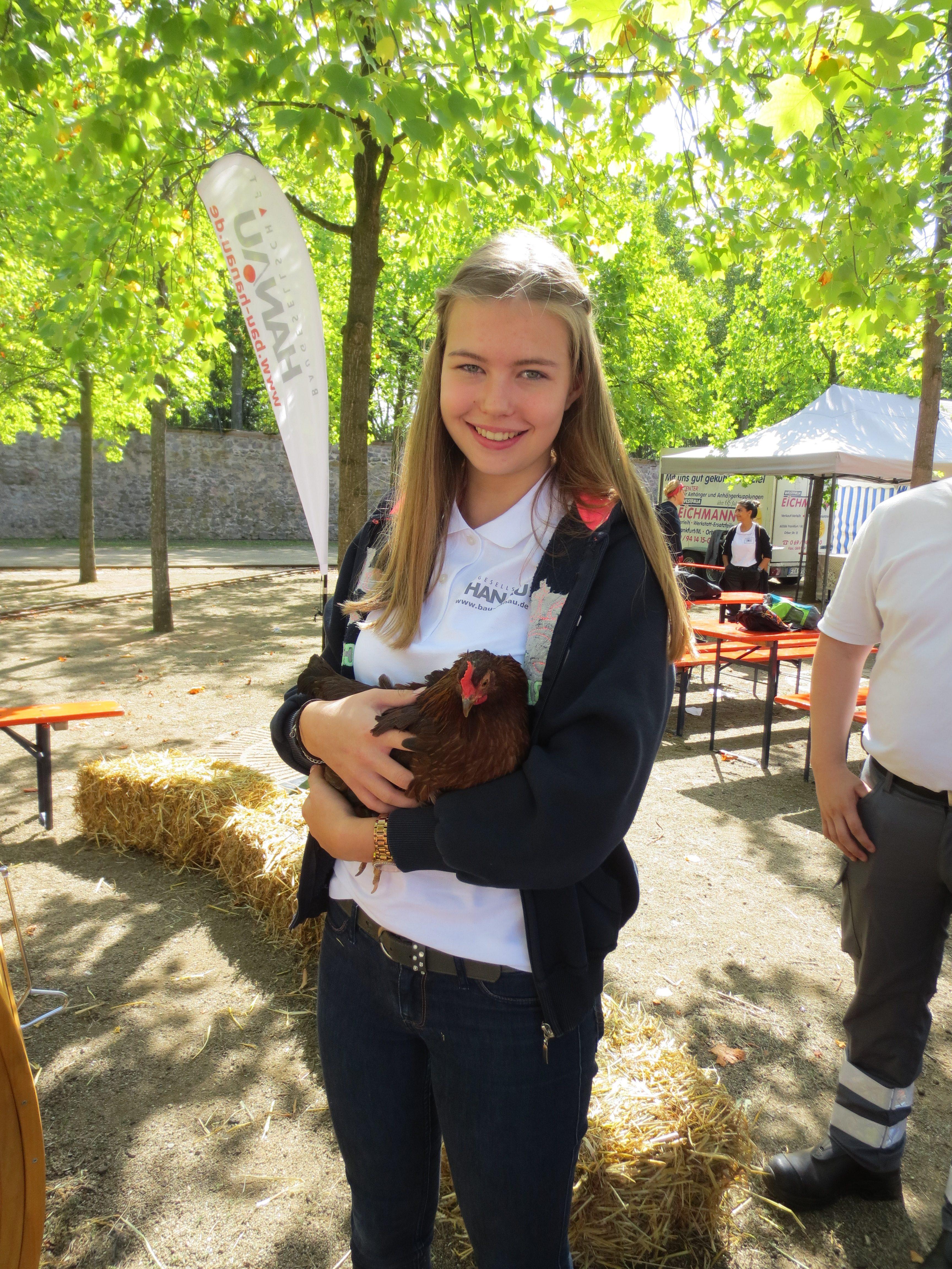Hühner auf dem Hanauer Bürgerfest 2019
